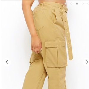 12f1e4fb77e Forever 21 Pants - Plus Size Belted Cargo Joggers
